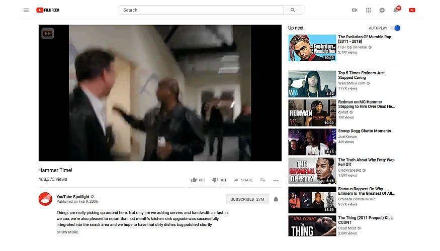 Actualización de YouTube - Vídeos y relación de aspecto / pantalla