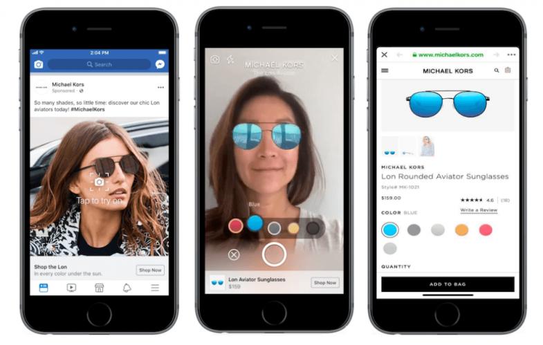 Facebook introduce anuncios en AR en el servicio de noticias